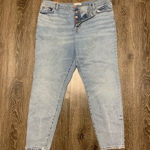 Forever 21 Plus High Rise Mom Jeans